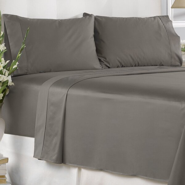 Seth 450 Thread Count 100% Cotton Solid Pillowcase (Set of 2) by Langley Street